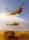 Chinook lifting a Huey