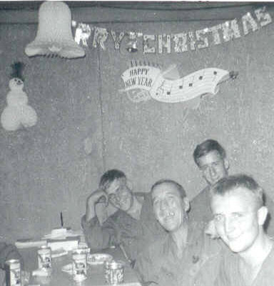 Celebrating Christmas 1967 at LZ Uplift