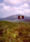 Flag on Duster Hill at LZ Uplift