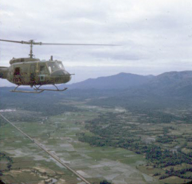 Hueys over South Vietnam in 1967