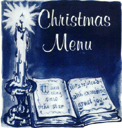 Christmas 1965 menu cover from Vietnam