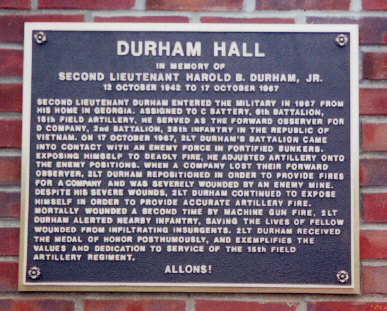 Plaque at Fort Drum, NY