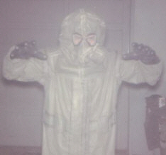 Butyl-rubber outfit and M9A1 gas mask in 1964 at Gerstle River