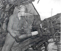 Typical cannoneer of the 15th FA Bn in 1944